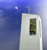 Witte Kerk Stock Foto's