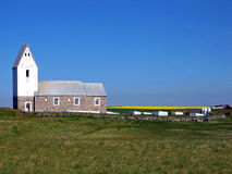 Witte Kerk in Denemarken, Europa Royalty-vrije Stock Fotografie