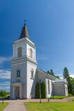 Witte kerk in Hamina, Finland stock fotografie