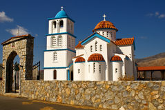 Witte kerk in Kreta royalty-vrije stock foto's