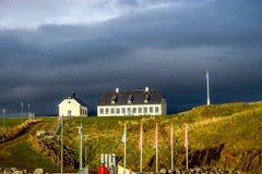 Witte kerk op Videy-Eiland royalty-vrije stock foto