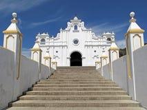 Witte kerk van Apaneca, El Salvador Stock Foto's