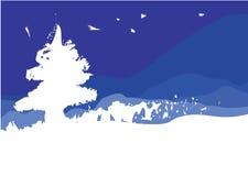 Witte Kerstboom stock illustratie