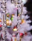 witte Kerstboomkroonluchter Stock Foto