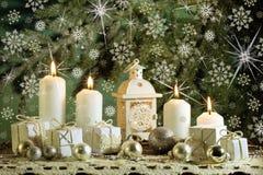 Witte Kerstkaart Stock Afbeeldingen