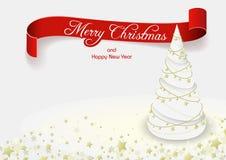 Witte Kerstmisboom vector illustratie