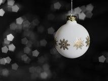 Witte Kerstmissnuisterij Royalty-vrije Stock Afbeeldingen