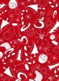 Witte Kerstmissymbolen royalty-vrije illustratie