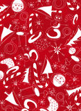 Witte Kerstmissymbolen Royalty-vrije Stock Fotografie