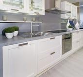 Witte keuken Royalty-vrije Stock Afbeelding