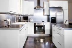 Witte keuken Stock Foto