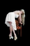Witte kleding stock fotografie