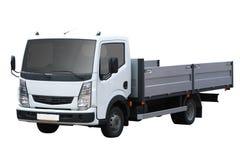 Witte kleine vrachtwagen Stock Afbeeldingen