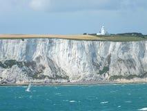 Witte klippen van Dover Stock Afbeeldingen