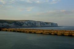 Witte klippen van Dover Sunset Royalty-vrije Stock Afbeelding