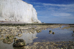 Witte klippen van Zuid-Engeland Royalty-vrije Stock Foto's