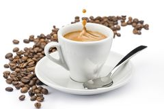 Witte koffiekop stock fotografie