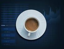Witte koffiekop Stock Foto