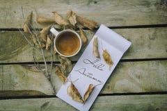 Witte koffiekop Stock Foto's