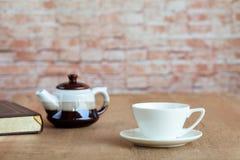 witte koffiekop voor verfrissing royalty-vrije stock fotografie