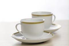 Witte koffiekoppen Royalty-vrije Stock Foto