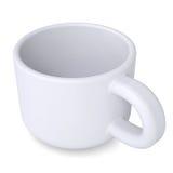 Witte koffiemok Stock Foto