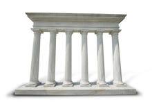 Witte kolommen - het knippen weg Stock Foto's