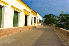 Witte Koloniale Architectuur in Colombia royalty-vrije stock foto