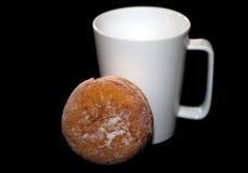 Witte Kop en Doughnut Stock Fotografie