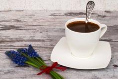 Witte kop met koffie Royalty-vrije Stock Afbeelding