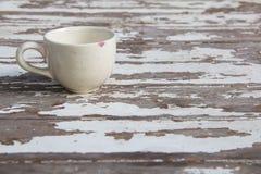 Witte kop op houten Stock Afbeeldingen