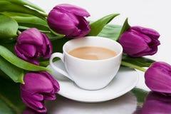 Witte kop van koffie stock afbeelding