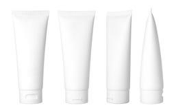 Witte kosmetische buis royalty-vrije stock afbeeldingen