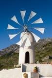 Witte Kretenzische windmolen Stock Afbeeldingen