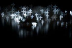 Witte kruisen Stock Fotografie
