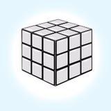Witte kubus Royalty-vrije Stock Fotografie
