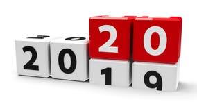 Witte kubussen 2020 Stock Afbeelding