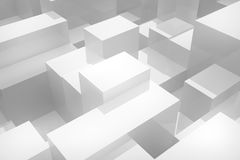 Witte kubussenachtergrond Royalty-vrije Stock Afbeelding