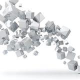 Witte kubussenachtergrond Royalty-vrije Stock Foto's