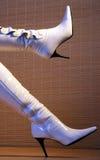 Witte laarzen royalty-vrije stock foto