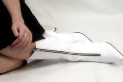 Witte Laarzen Royalty-vrije Stock Foto's