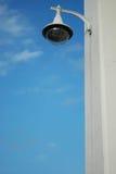Witte lamp op witte kolom Royalty-vrije Stock Fotografie