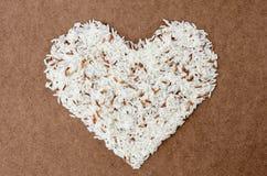 Witte lange ongekookte rijst. Stock Afbeelding