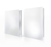 Witte lege boeken die op witte achtergrond worden geïsoleerdi Royalty-vrije Stock Foto's
