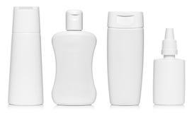 Witte lege flessen Royalty-vrije Stock Afbeelding