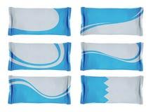 Witte lege folie verpakking met koel ontwerp Royalty-vrije Stock Afbeeldingen