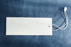 Witte lege markering op denim Lege ruimte voor tekst De idylle van de zomer stock foto