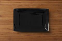 Witte lege vierkante geïsoleerde plaat Royalty-vrije Stock Fotografie
