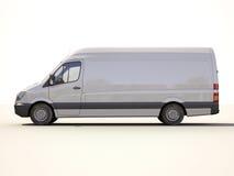 Witte leveringsbestelwagen Royalty-vrije Stock Foto