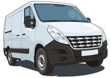 Witte leveringsbestelwagen Royalty-vrije Stock Foto's